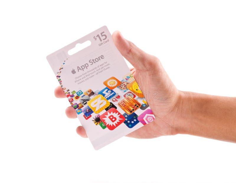 app karciany prezenta sklep zdjęcie royalty free
