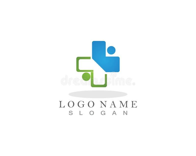 App médico e da saúde do logotipo e do símbolo do molde ilustração stock