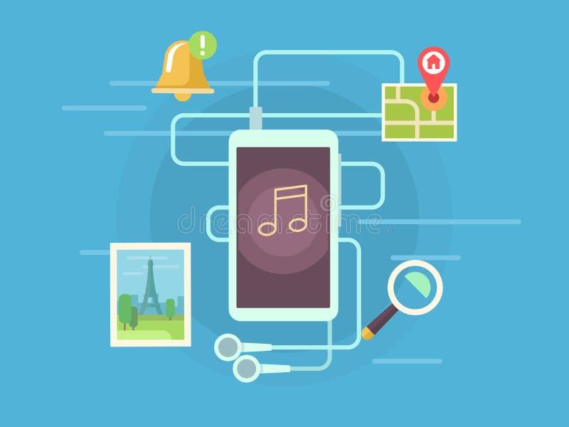 App móvel ilustração royalty free