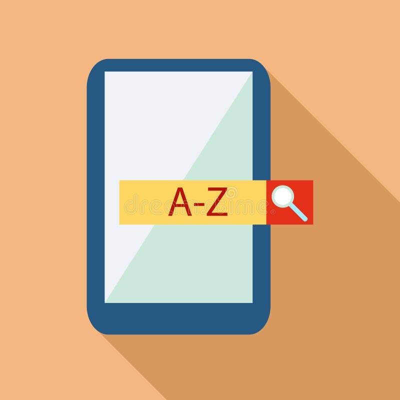 App móvel com ícone do tradutor, estilo liso ilustração do vetor