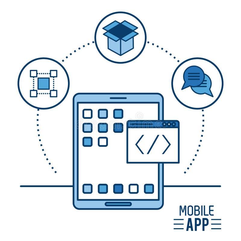 App móvel infographic ilustração royalty free