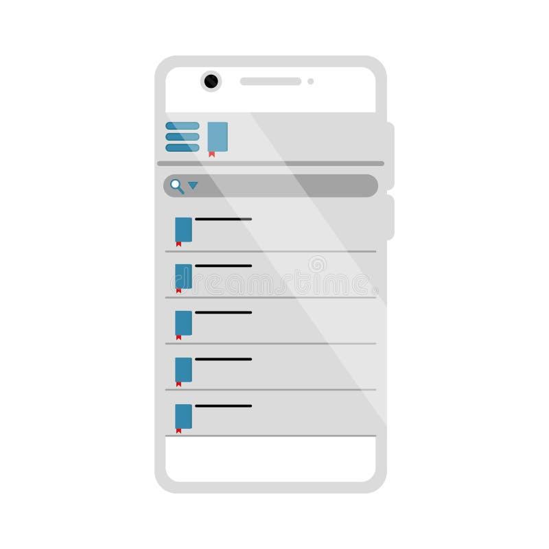 App móvil aislado de la biblioteca libre illustration