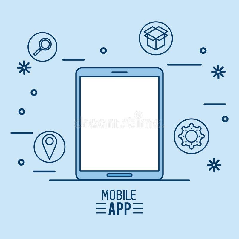 App móvil infographic ilustración del vector