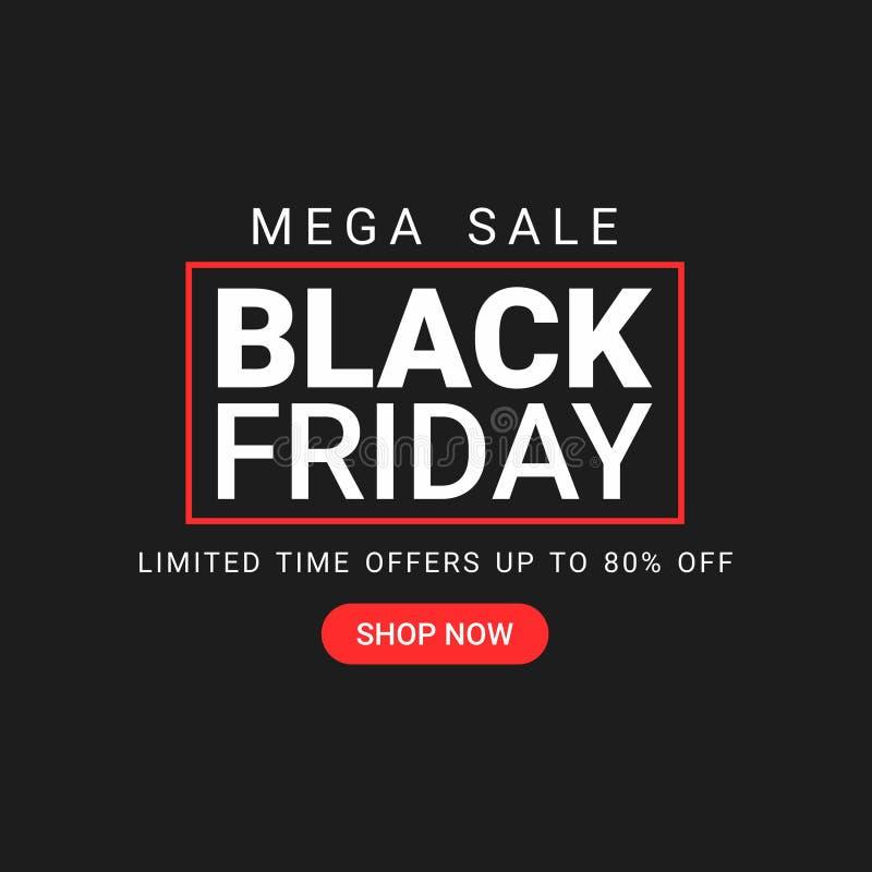 App Mobile Site Black Friday Sale Shop. Social media smartphone web post editable model template stock illustration