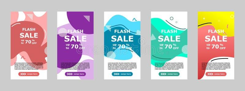 App och instagram för pråligt försäljningsbaner mobil arkivbild
