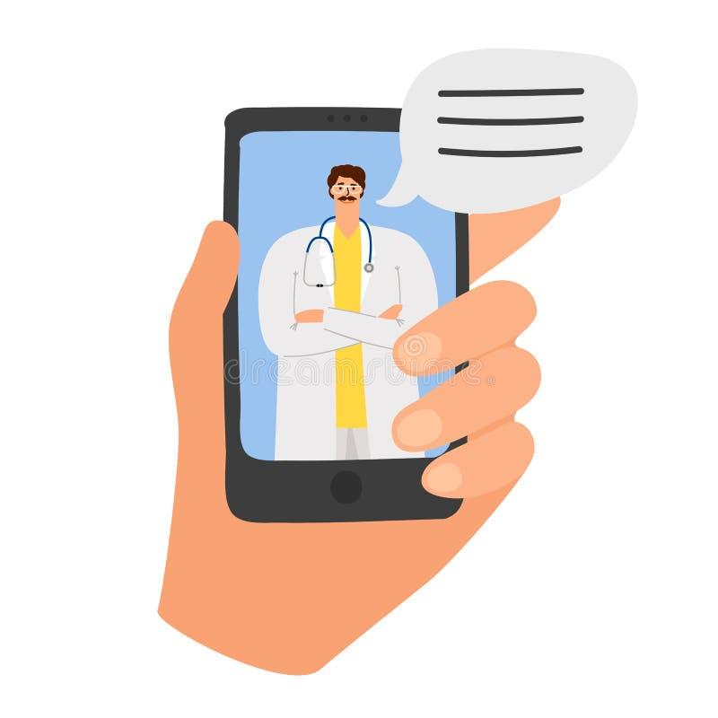 App online di medico illustrazione di stock