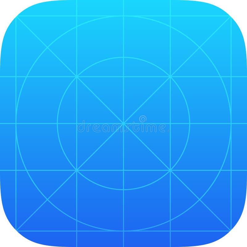 App Pictogrammalplaatje royalty-vrije illustratie
