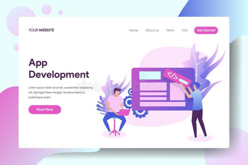 App rozwój ilustracja wektor