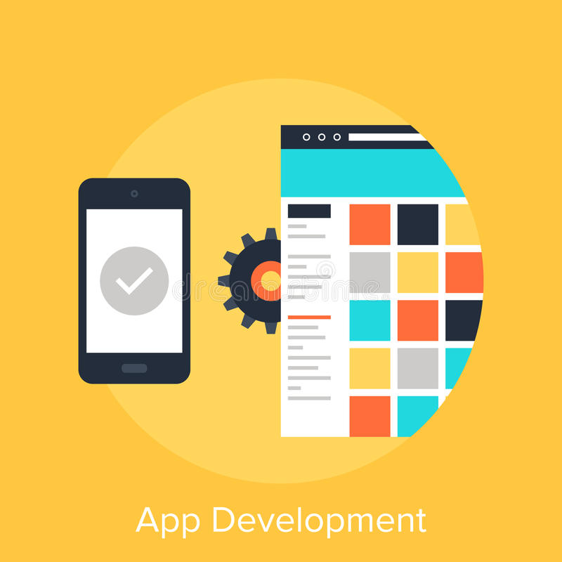 App rozwój royalty ilustracja