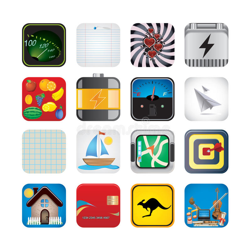 App set of icons stock illustration
