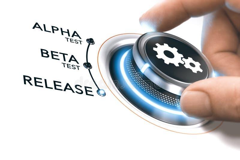 App of Software-ontwikkeling vector illustratie