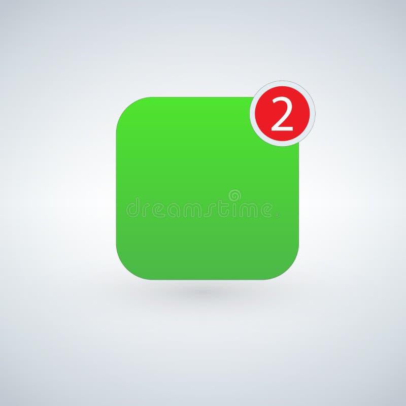 App-symbolsmall Grön färg för vektor vektor illustrationer