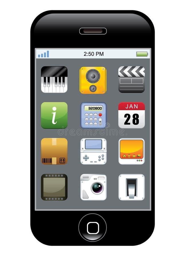 App-symbolstelefon Arkivfoton