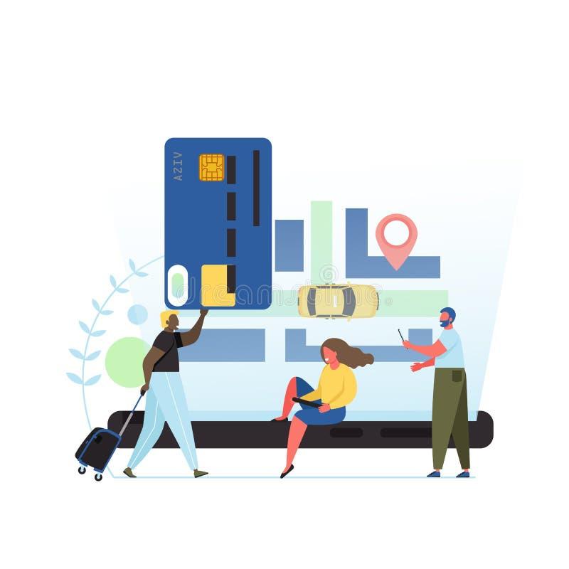 App taxi mieszkania stylu projekta wektorowa ilustracja ilustracji