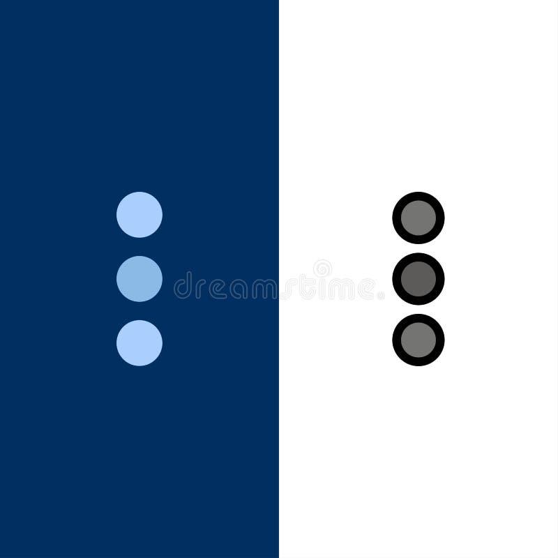 App, telefon, Ui ikony Mieszkanie i linia Wypełniający ikony Ustalony Wektorowy Błękitny tło royalty ilustracja