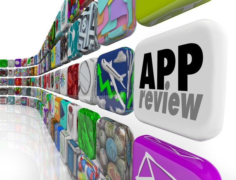 App van de het Programmaevaluatie van de Overzichtssoftware de Score van de het Procesclassificatie royalty-vrije illustratie