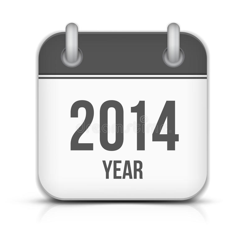 2014 App van de Jaar Vectorkalender Pictogram met Schaduw royalty-vrije illustratie