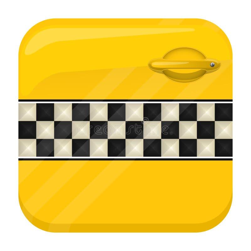 App van de taxideur pictogram stock illustratie