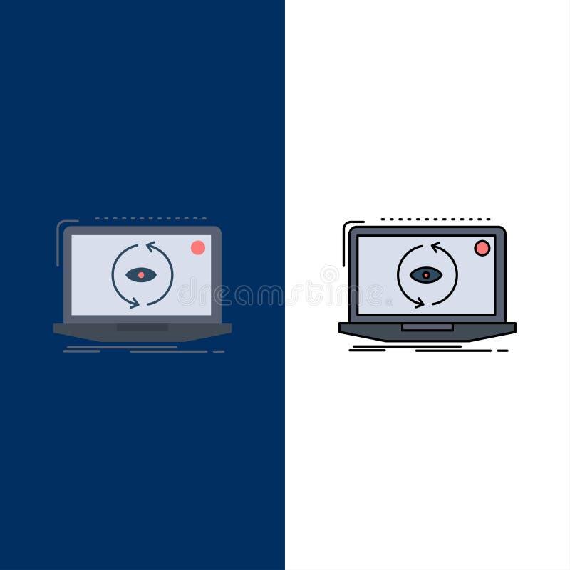 App, zastosowanie, nowy, oprogramowanie, aktualizacja koloru ikony Płaski wektor ilustracja wektor