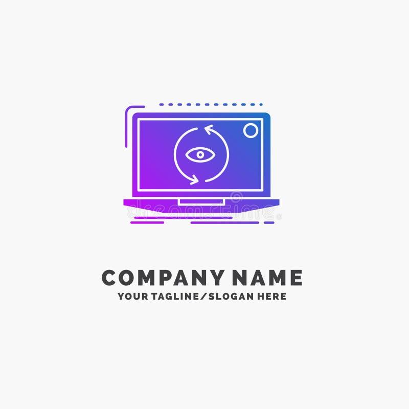 App, zastosowanie, nowy, oprogramowanie, aktualizacja logo Purpurowy Biznesowy szablon Miejsce dla Tagline ilustracja wektor