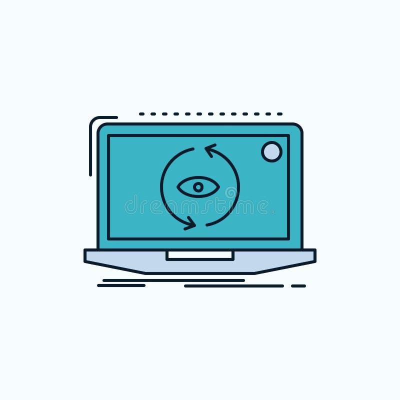 App, zastosowanie, nowy, oprogramowanie, aktualizacji mieszkania ikona ziele?, kolor ilustracja wektor