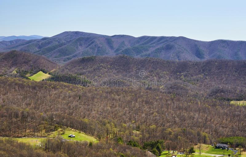 Appalachen in Virginia stockfotos