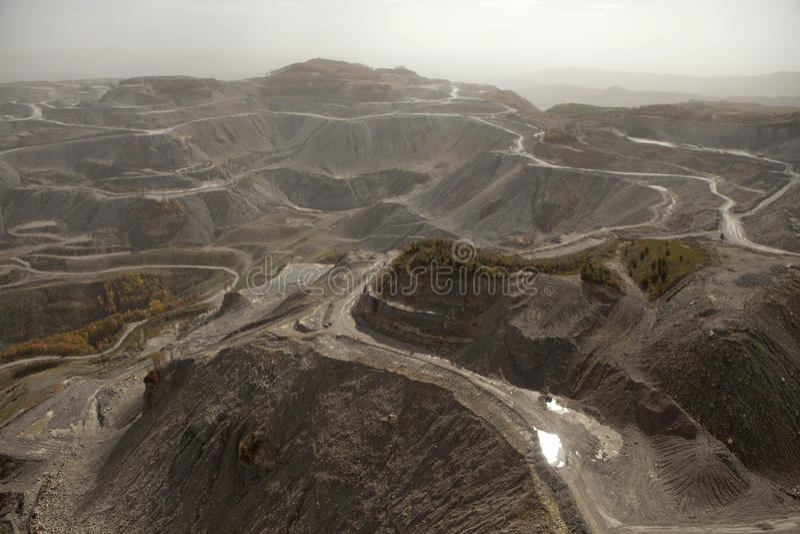 Appalachia de la mina de carbón imagenes de archivo