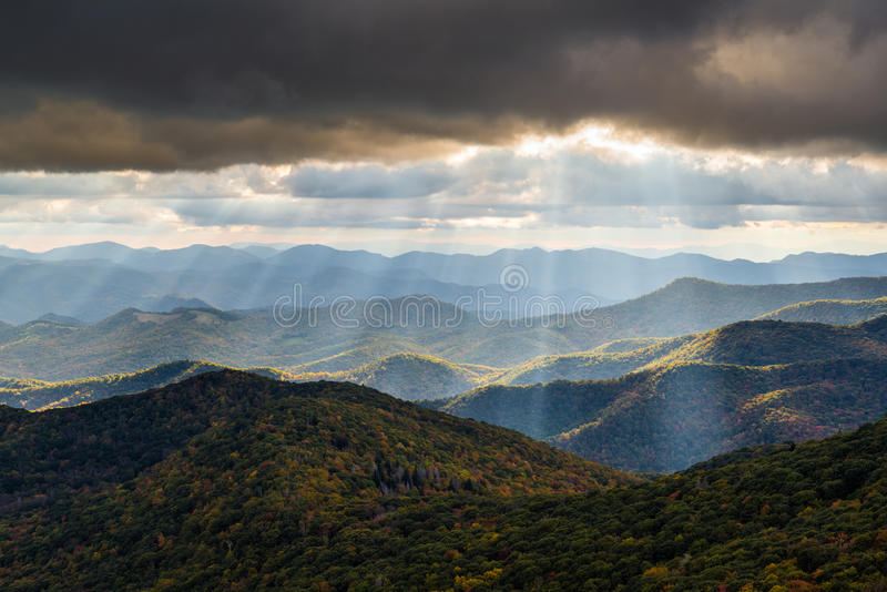 Appalachian Mountain Landscape Western North Carolina Blue Ridge. Appalachian Mountain landscape in Western North Carolina Blue Ridge Parkway autumn outdoor royalty free stock photo