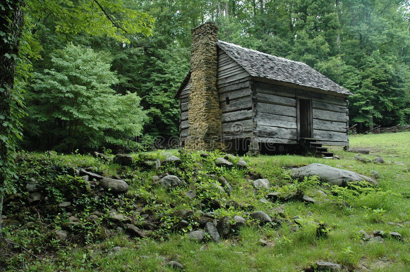 Genial Download Appalachian Mountain Log Cabin Stock Image   Image Of Stone,  Misty: 6847627
