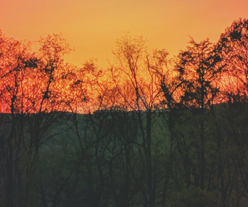 Appalachian solnedgång royaltyfri bild