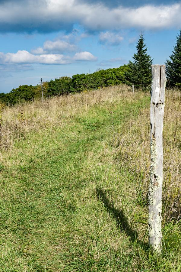 Appalachian Trail on Apple Orchard Mountain stock images