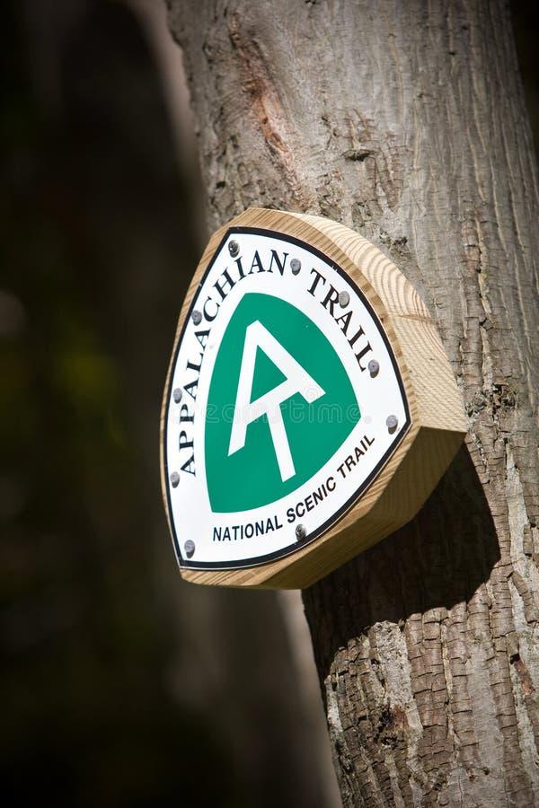 Appalachian trail sign. Taken in Western Massachusetts royalty free stock photos