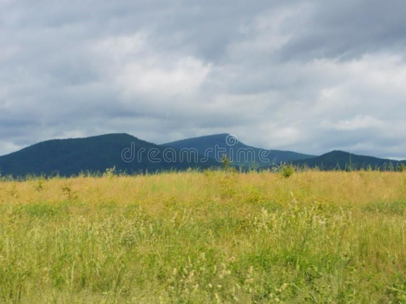 Appalachians. Scenery, mountain, grass, virginia stock photography