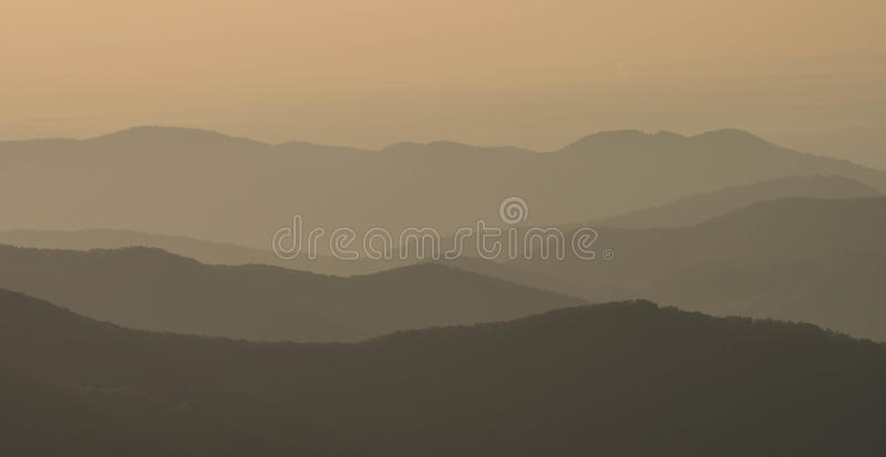 The Appalachians of western North Carolina. The Appalachian Mountains near Asheville in North Carolina as seen from the Blue Ridge Parkway royalty free stock photos