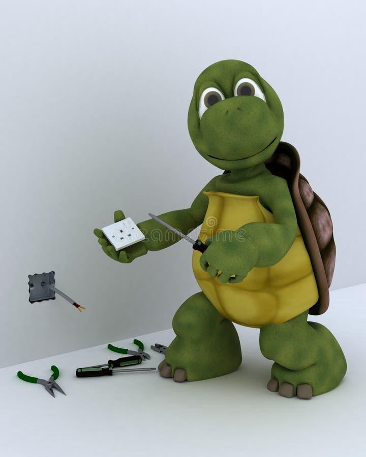 Appaltatore elettrico della tartaruga illustrazione vettoriale