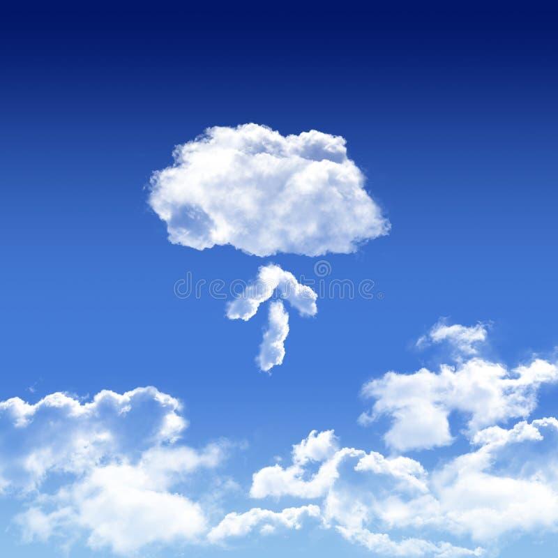 Appanni il concetto digitale di calcolo dell'innovazione nel cielo illustrazione vettoriale