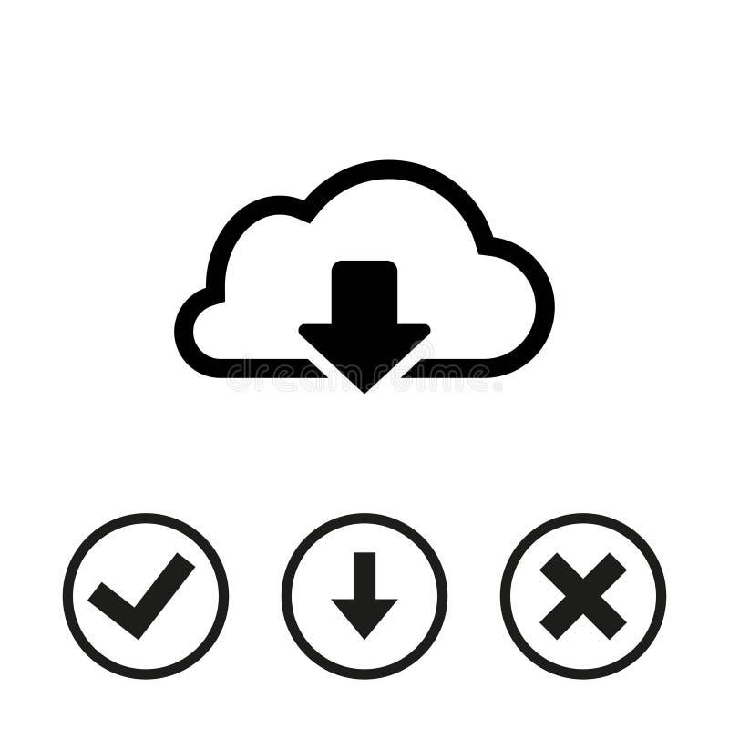 Appanni la progettazione piana dell'illustrazione di vettore delle azione dell'icona di download royalty illustrazione gratis