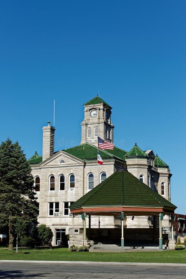 Appanooseprovincie, het Gerechtsgebouw van de Provincie van Iowa en Gazebo royalty-vrije stock foto's