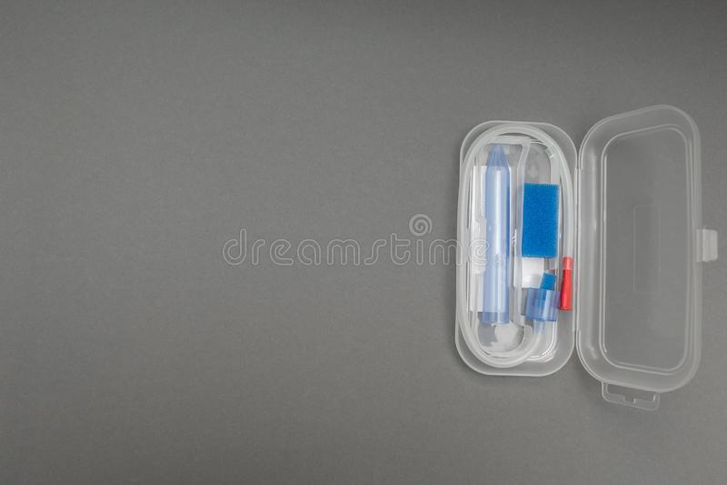 Apparaat voor de extractie van slijm van de baby royalty-vrije stock foto's