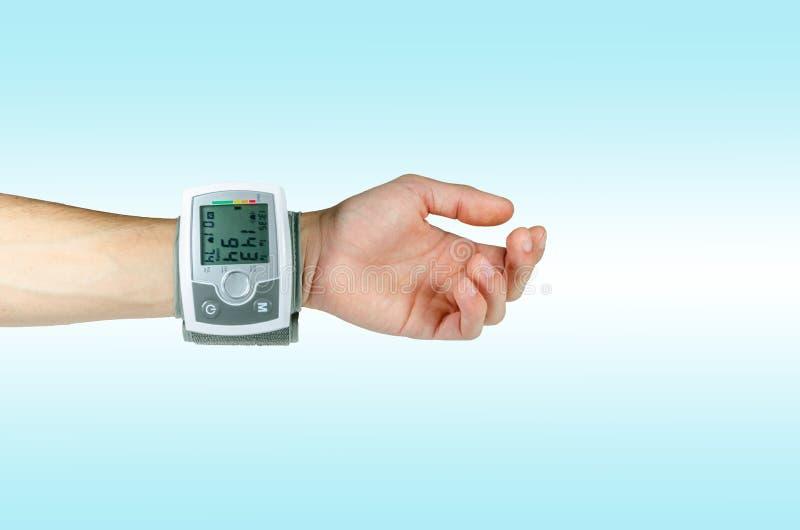 Apparaat voor het tarief van het bloeddrukhart stock afbeeldingen