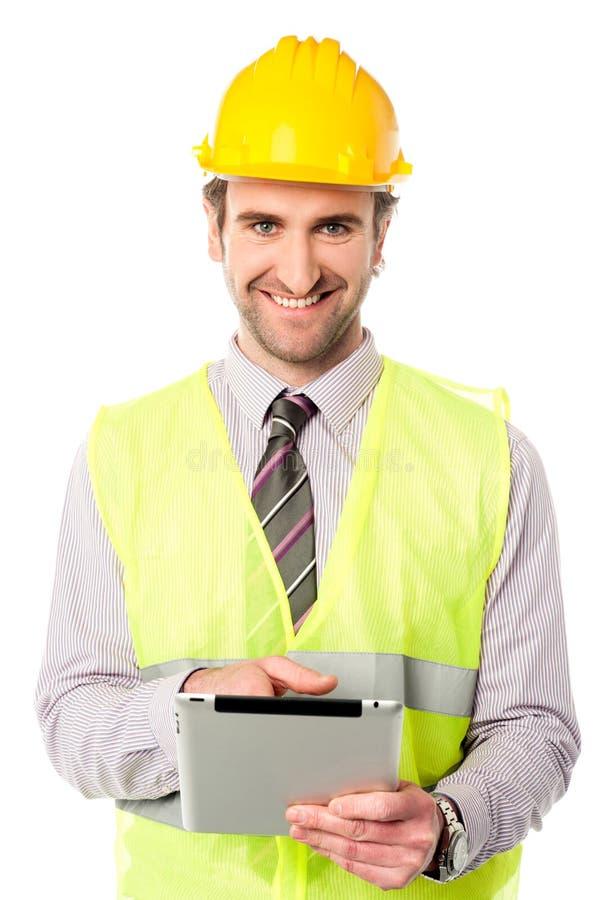 Apparat för block för handlag för fältarbetare fungerande royaltyfri foto