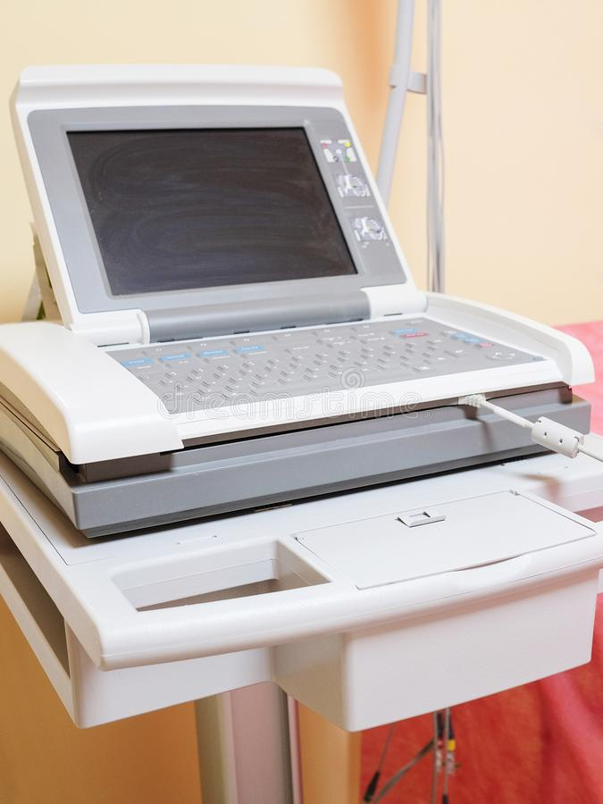 Apparat för ultraljudsundersökningdiagnostik fotografering för bildbyråer