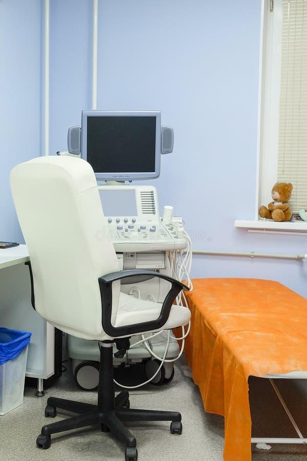 Apparat för ultraljudsundersökningdiagnostik arkivbilder
