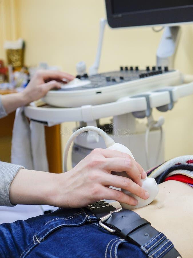 Apparat för ultraljudsundersökningdiagnostik royaltyfri fotografi