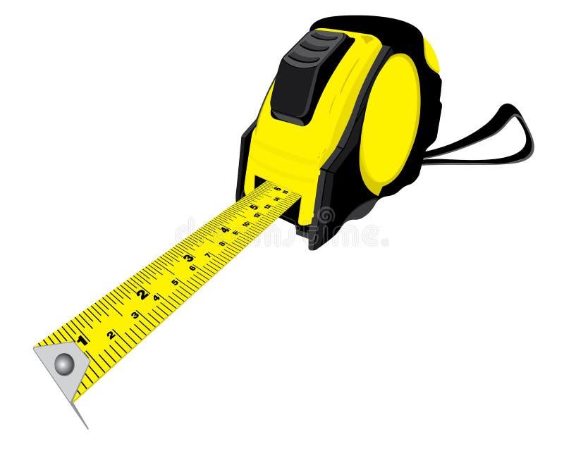 apparaten ämnade bandet för längdmåttmätningen stock illustrationer