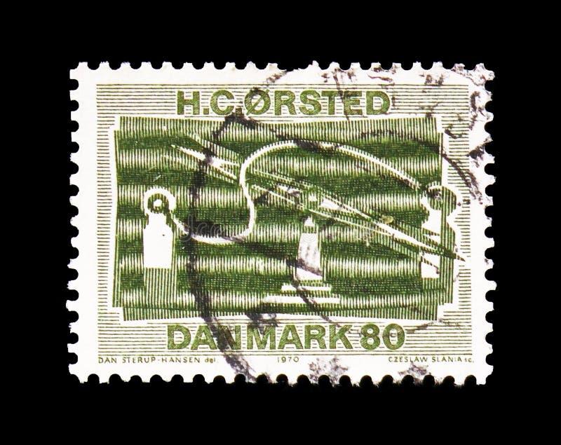 Apparato elettromagnetico, serie scientifico di scoperte, circa 1970 immagine stock libera da diritti