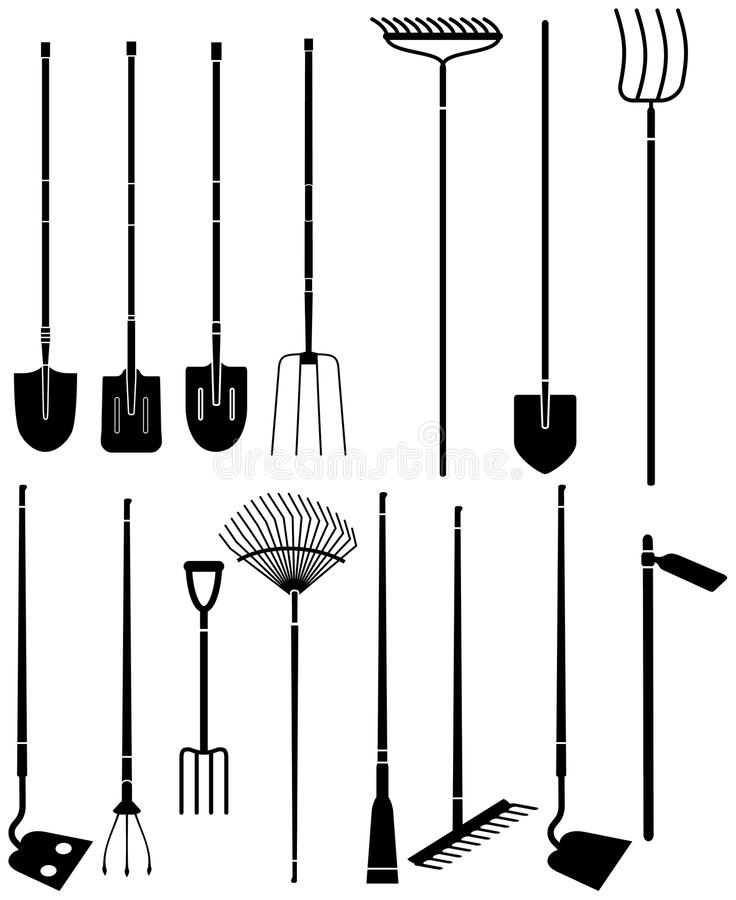 Apparatuur 4 van de tuin vector illustratie