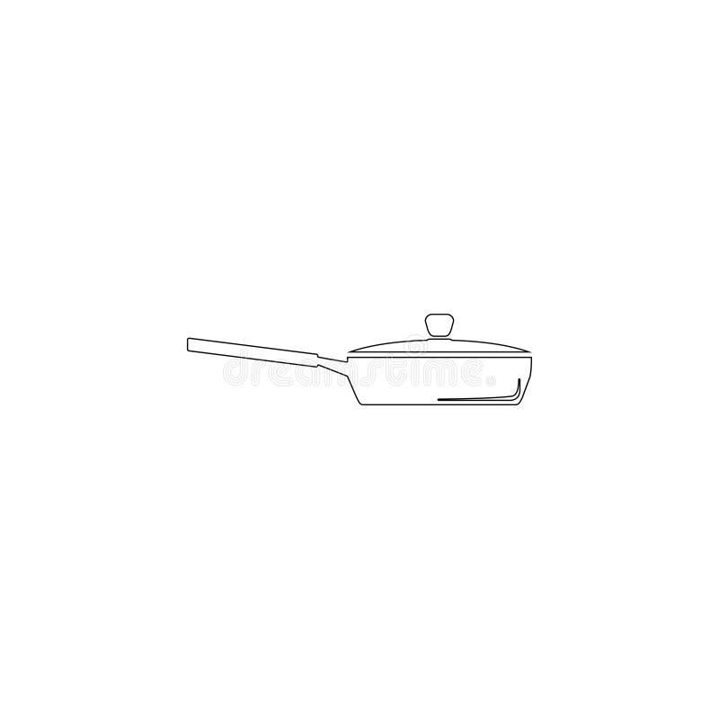Apparatuur om te koken Vlak vectorpictogram royalty-vrije illustratie