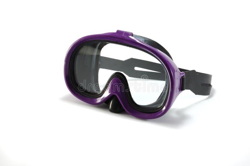 Apparatuur om te snorkelen - het duiken masker stock afbeelding