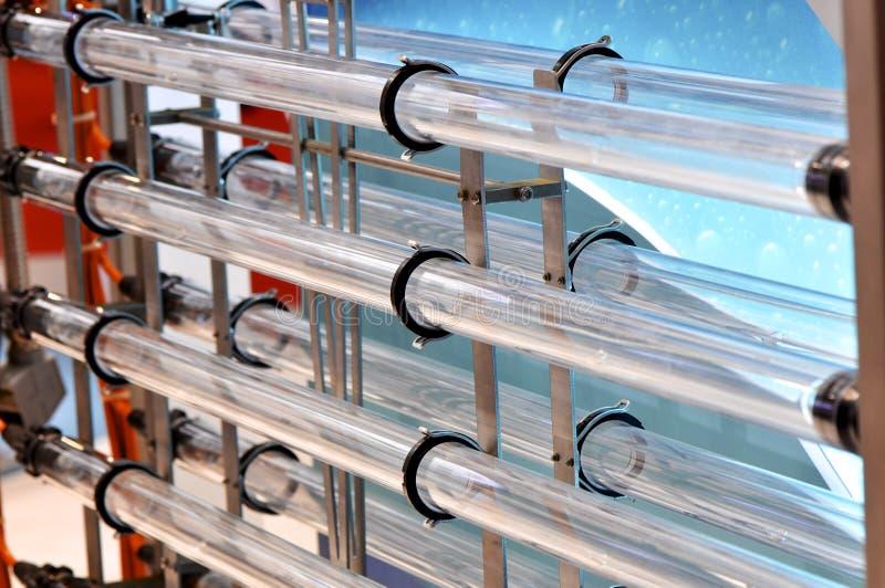 Apparatuur van waterbehandeling royalty-vrije stock afbeeldingen